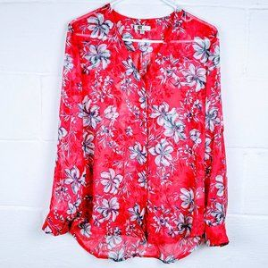 Kut from the Kloth Red/White Floral Top, Size M